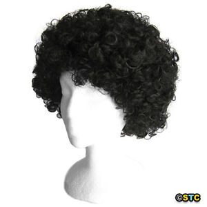 Economy Black Afro Wig ~ HALLOWEEN 60s 70s DISCO CLOWN COSTUME PARTY CURLY FRO