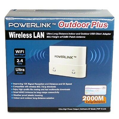Long Range 2000Meter Indoor/Outdoor WiFi USB Wireless Adapter WLAN 14dBi Antenna