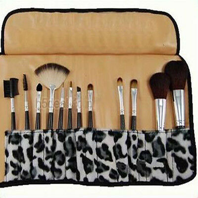 12PCS Women Pro Makeup Make Up Brush Cosmetic Brushes Sets Free Case Holder Bag on Rummage