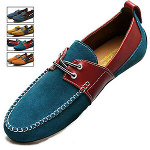 X81076-Mens-Casual-Shoes-PU-Driving-Moccasins-Slip-On-Flat-Penny-Loafers