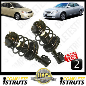 Toyota-Camry-Avlon-Quick-Complete-Front-Strut-Coil-Spring-w-Mounts-x2