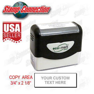 Eco-Mark-Pre-Inked-Address-or-Custom-Text-5-Line-Stamp-100-Guaranteed