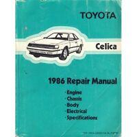1986 Toyota Celica Repair Manual