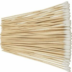 New-Pack-of-100-6-Cotton-Tipped-Applicator-Swabs-Wood-Shaft-Non-Sterile-CS100-6