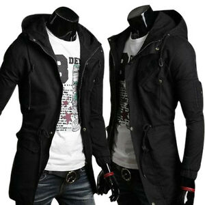 MENS-JACKET-MILITARY-PARKA-COAT-HOODED-CASUAL-LONG-WINDBREAKER-OUTWEAR-3Colors