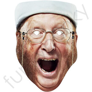 John McCririck Celebrity Card Mask - All Our Masks Are Pre-Cut!