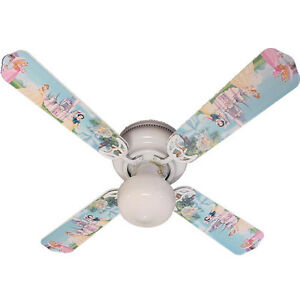PRINCESS 2 Ceiling Fan Blades 4 Disney Hand Crafted