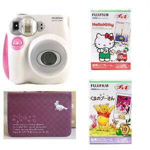 Fujifilm-Instax-Instant-Mini-Polaroid-Camera-7S-Pink-Cartoon-Film-Photo-Album