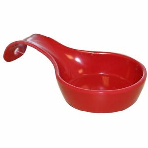 Spoon Rest Red Melamine Utensil Holder Kitchen Decor New
