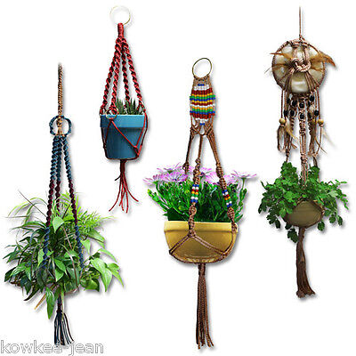 Macrame Basics: how-to instructions for 7 plant hangers on Rummage