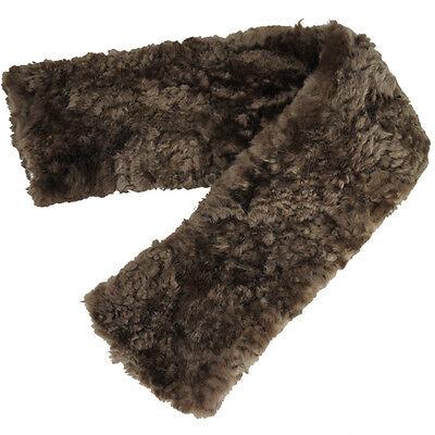 Superb Merino Sheepskin Cinch Girth cover Horse Caaring Aid Brown Good010221