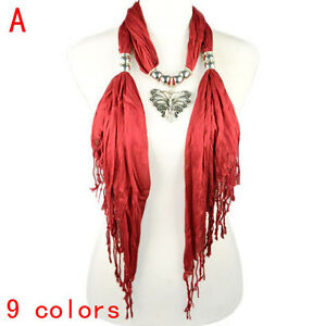 Fashion-Red-Butterfly-Pendant-Scarf-Necklace-with-CCB-Beads-NL-1829A