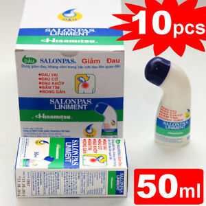 10-Tubes-Salonpas-Liniment-Muscle-Pain-Relief-50ml-EXP-2014-Roll-On-Bottle