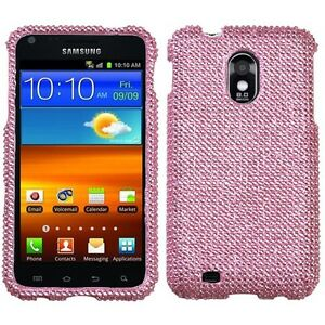 For-US-Cellular-Samsung-Galaxy-S-II-2-Diamond-BLING-Hard-Case-Phone-Cover-Pink