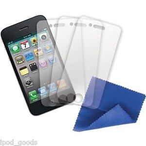 Griffin Clear Screen Protector 3 PK +Clean Cloth CareKit for iPhone 4 4S GB01718