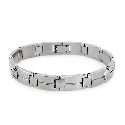 Simmons & Shr Tungsten Stainless Steel Men's Bracelet - Great Gift