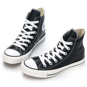Converse-Chuck-Taylor-All-Star-HI-Black-Leather-Unisex-Casual-Shoes-143C