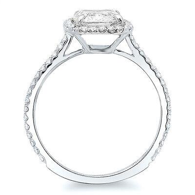 1.37 Ct Cushion Brilliant Cut & Round Halo Diamond Engagement Ring F,VS1 GIA 14K 1