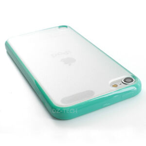 Teal Clear Hard Gel Hybrid TPU Candy Case Cover Apple iPod Touch 5 5G Accessory