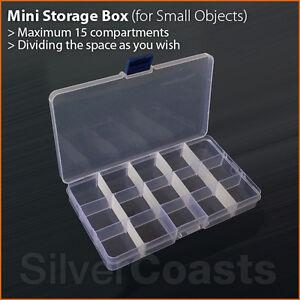 Small-Storage-Mini-Box-15-Slots-Compartments-Adjustable-Organiser-Plastic-Case