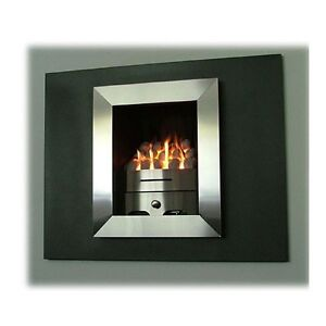 Aleda Hole In The Wall Gas Fire Chrome Black Wall