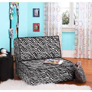 Your zone zebra flip out chair convertible sleeper bed couch lounger
