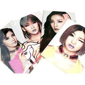 YG-eshop-2NE1-New-Evolution-A4-Clear-File-Folder-Holder-4-Sheets-Set-K-POP