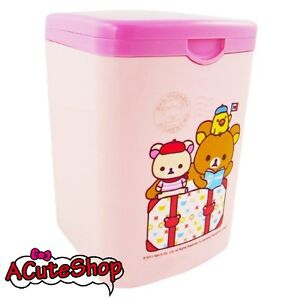 San-X-Rilakkuma-Mini-Desk-Trash-Can-Basket-Garbage-Bin-Paris-Pink