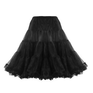 NEW-CLASSIC-26-ORGANZA-NET-MESH-TULLE-PETTICOAT-FOR-ROCKABILLY-SWING-DRESSES