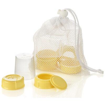 Medela Breatmilk Bottle Travel Spare Parts Collar Ring Disc Cap Lid 3 Each 87165
