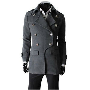 Mens-Trench-Coat-Double-Breasted-Jacket-Pea-Coat-Black-Gray-Camel-US-S-L-MWF004