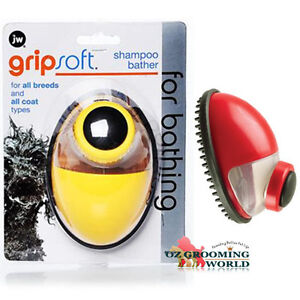 JW-GripSoft-Shampoo-Bather-Brush-for-Dog-Pet-Grooming-Massage-Wash