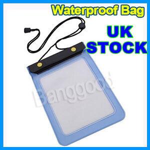 Waterproof Bag Wallet Case Cover For Amazon Kindle 3/3G/4/ WIFI Playbook Blue