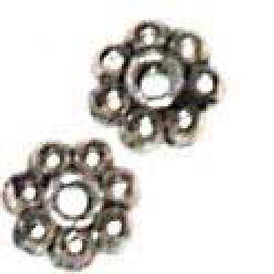Bb-pb4-500 4mm Silver Plated Bali Daisy Spacer Beads