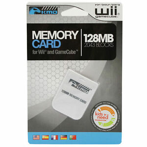 128MB Nintendo Wii / GameCube Memory Card *BRAND NEW!*