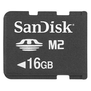 16GB Sony SanDisk M2 Memory Stick Micro Card SDMSM2-016G Genuine Adapter + Case