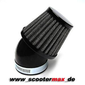 Rennluftfilter Luftfilter schwarz 48-50mm 45 Grad PWK Vergaser OKO Stage6 NEU