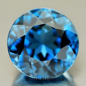 NATURAL LONDON BLUE TOPAZ 6 MM ROUND 2 PC SET
