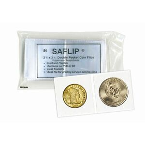 Saflip-Double-Pocket-Mylar-Coin-Flips-2-x-2-FREE-SHIPPING