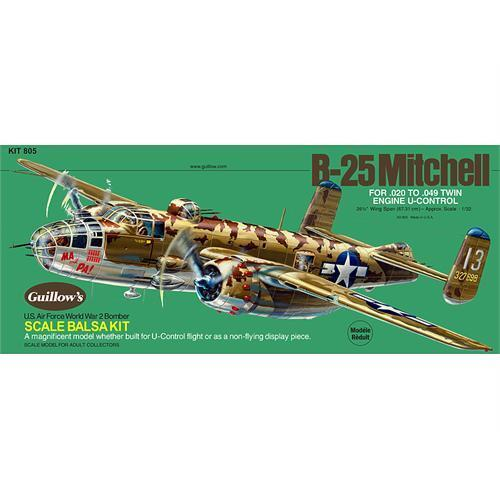 Guillows North American B25 Mitchell Balsa Plane 1:32 Scale Model Kit