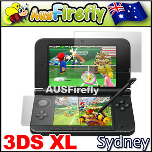 2in1 Set Top & Bottom LCD Screen Protector Cover Film For Nintendo 3DS XL/LL New