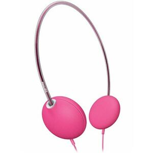 New-Philips-Lightweight-CUSHIONED-Pink-Comfortable-Adjustable-SWIVEL-HEADPHONEs