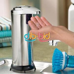 Stainless Steel Hand Free Automatic Touchless Bathroom Kitchen Soap Dispenser #4