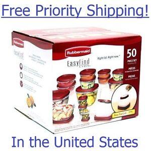 Rubbermaid-50-piece-Easy-Find-Lids-Food-Storage-Set-BPA-Free-Priority-Ship-Food