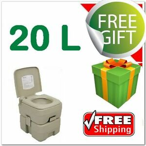 20 Litre Portable Outdoor Toilet 20L Camping Travel Caravan With Flush Fishing