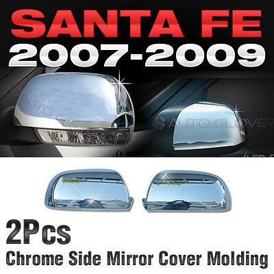 Chrome Side Mirror Cover Molding L/R Kit For HYUNDAI 2006 - 2012  Santa Fe