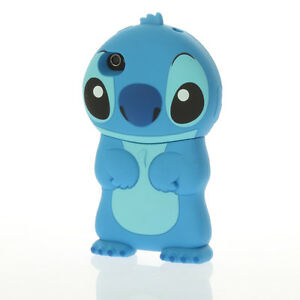Lovely 3D Stitch Movable Ear Flip Hard Back Case Cover for Apple iPhone 4 4S 4G