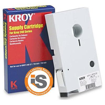 Kroy Duratype 2227516 Tape Blk/wht For Kroy 240, 240se, 244se, Label'r
