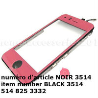 PINK Middle Bezel Frame+Touch Screen Digitizer Assembly 3GS