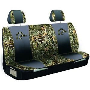 DUCKS UNLIMITED AND REALTREE MAX 4 CAMO UNIVERSAL BENCH SEAT COVER , AUTO ,TRUCK